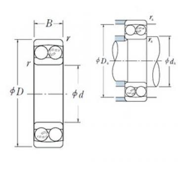 85 mm x 180 mm x 60 mm  NSK self-aligning ball bearing 2317 85X180X60 mm