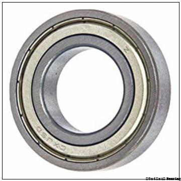 High speed full ceramic bearing 6004 deep groove ball bearing size 20x42x12
