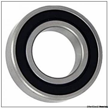 Chrome steel deep groove ball bearing 6004ZZ with dimensions 20x42x12 mm