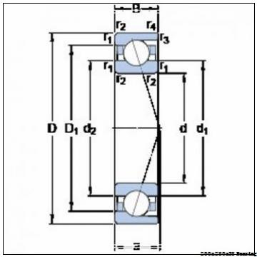 NSK 7940A5TRDUDMP3 Angular contact ball bearing 7940A5TRDUDMP3 Bearing size: 200x280x38mm