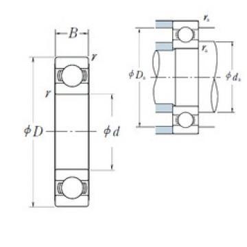 85 mm x 180 mm x 41 mm  NSK 6317 Deep groove ball bearings 6317 ZZ VV DDU N NR Bearing Size 85x180x41 Single Row Radial Bearing
