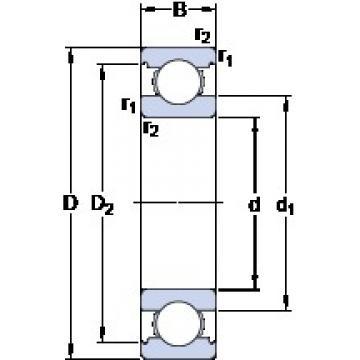 85 mm x 180 mm x 41 mm  Open type of SKF Deep groove Ball Bearing 6317