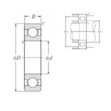 20 mm x 42 mm x 12 mm  NTN deep groove ball bearing 6004 6201 dw 6202 hch